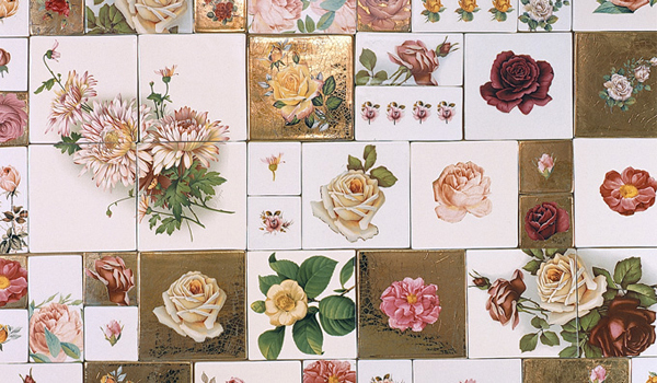 Roses tiles, handmade in tha UK by Welbeck Tiles | Emma Lamb