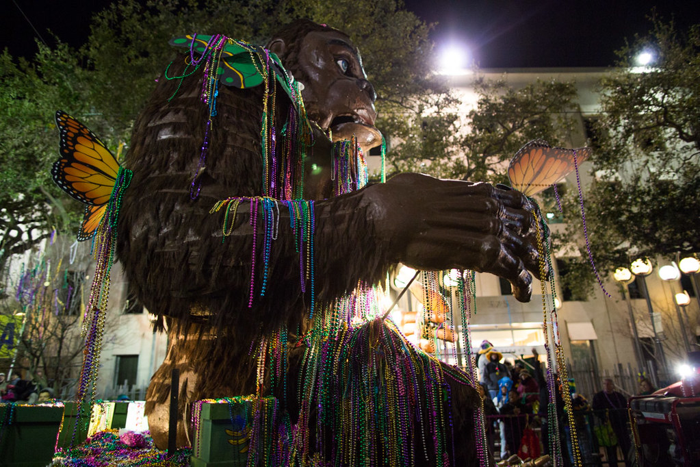 Gorilla floats during Bacchus | Mardi Gras Parade