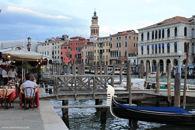 Il Canal Grande e Palazzo Dolfin-Marin visto da San Polo