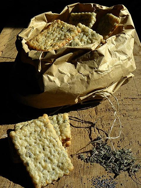 crackers ai semi di papavero, origano e parmigiano