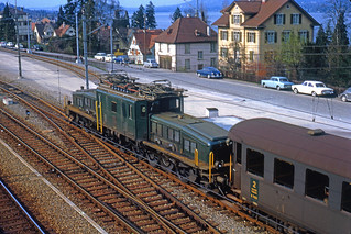 R2716.  Be6/8 II at Thalwil. March,1966.