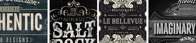 Vintage Typography Samples