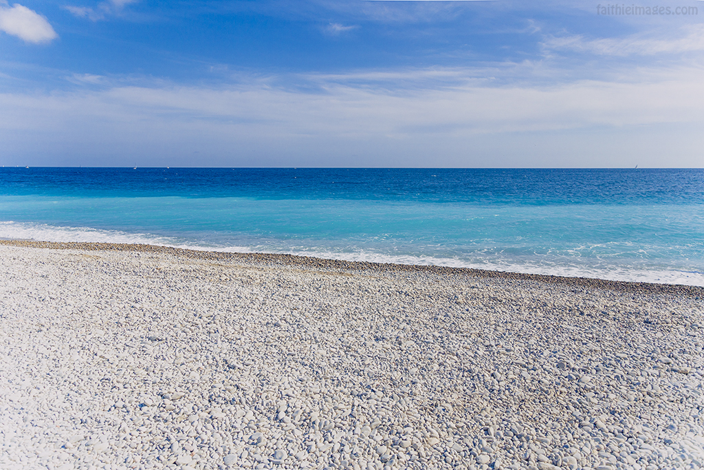 empty beach in Nice