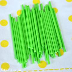 Green lollipop sticks