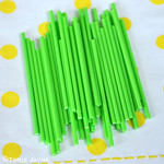 Green lollipop sticks