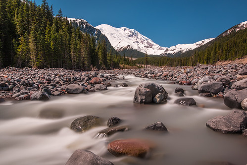 snow nature river landscape volcano us waterfall washington nationalpark scenery unitedstates glacier clear whiteriver mountrainier mountrainiernationalpark cloudless ashford 70d eos70d ef1635f4isusm