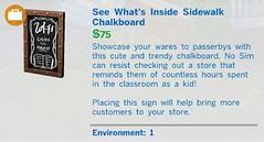 See Whats Inside Sidewalk Chalkboard