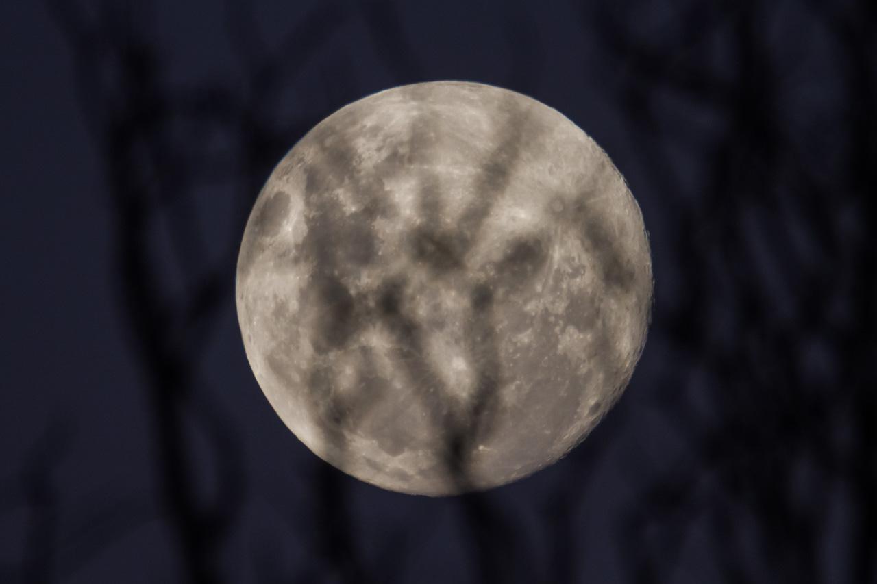 La luna llena ilumina el horizonte en las últimas horas de la tarde. (Tetsu Espósito)