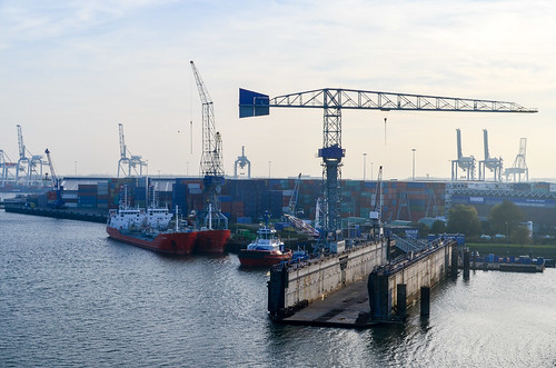 Dry docks of Pernis, port of Rotterdam