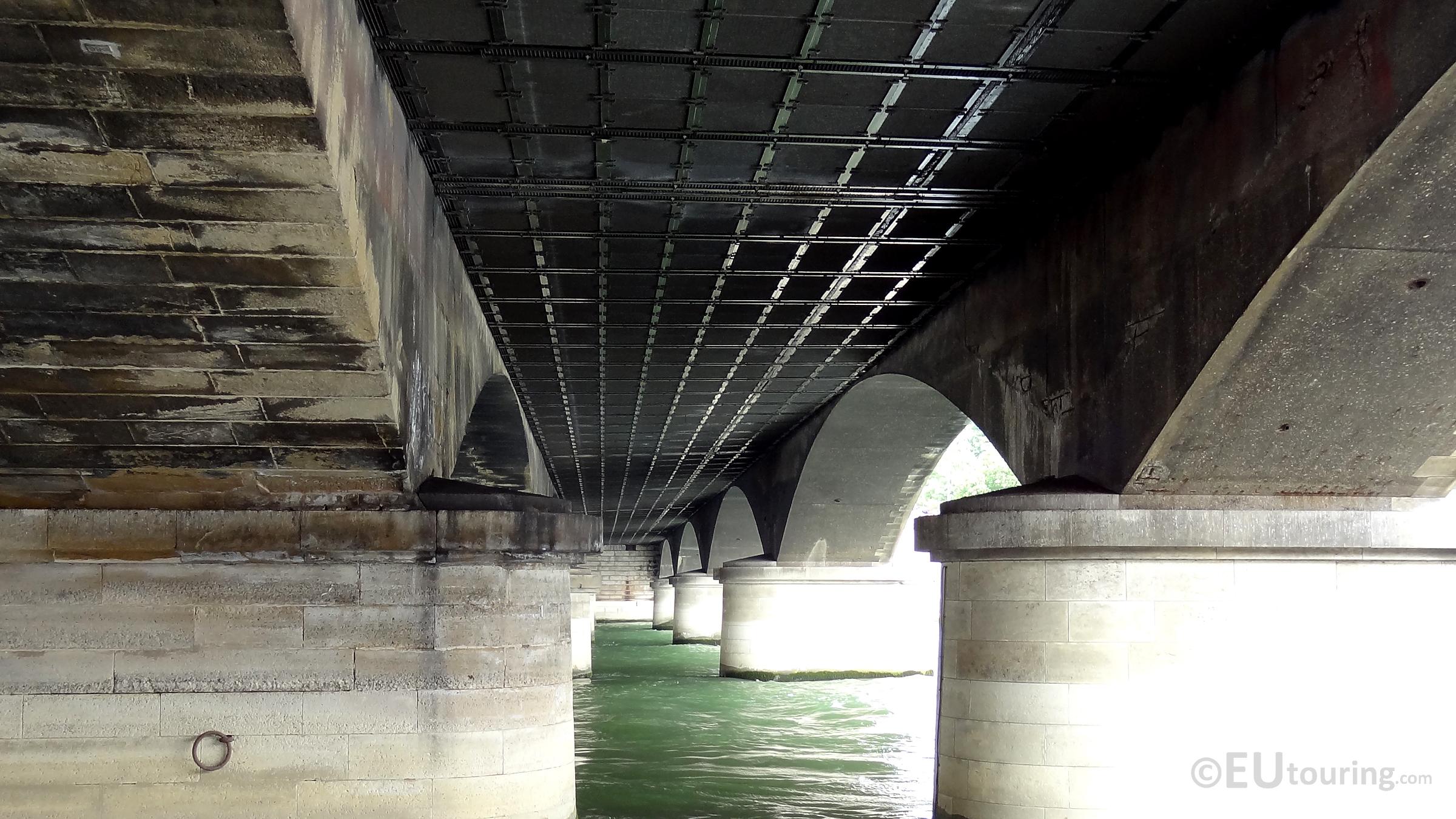 Beneath the Pont d'Iena