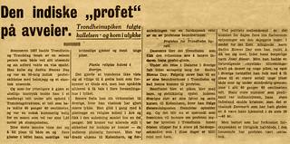 """Den indiske """"profet"""" på avveier (1939)"""