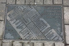 Photo of Portsmouth & Horndean Light Railway plaque