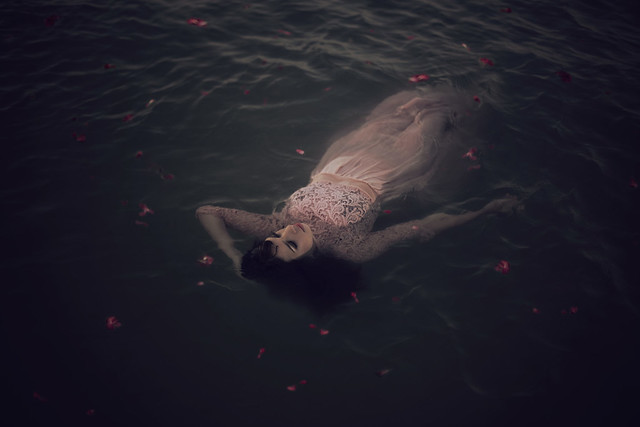 She swam in the depths