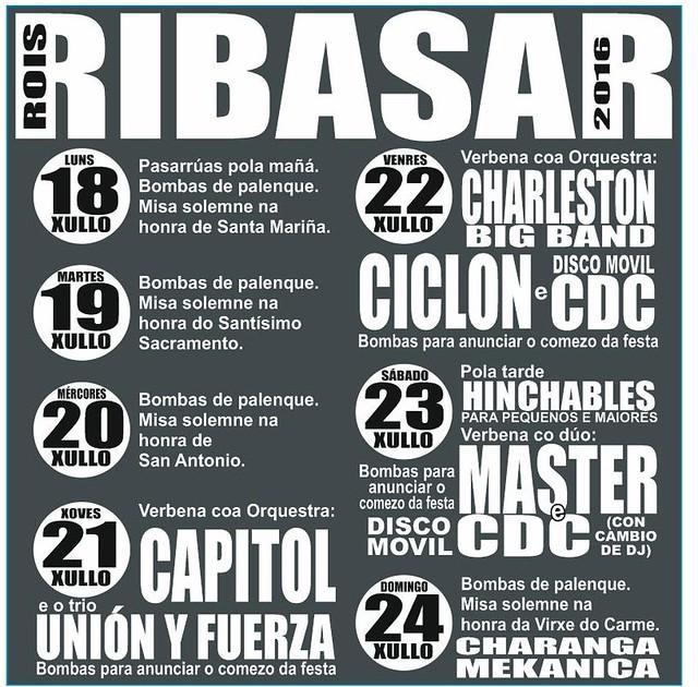 Rois 2016 - Festas de Ribasar - cartel