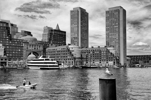 Summer Day at the Boston Waterfront