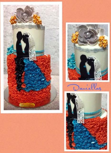 Amazing Wedding Cake by Eleanore David of DANIELLA's