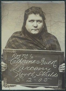 Catherine Buck, arrested for stealing sheets