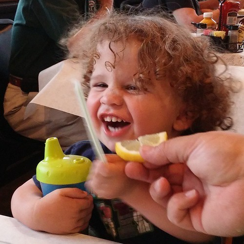 It's just a bit sour... 🍋 #sweetbabysi #lemon #toddlersi