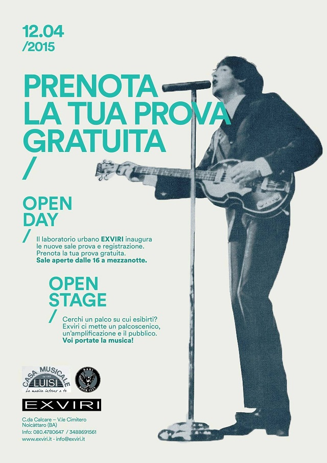Noicattaro. Open day Exviri intero