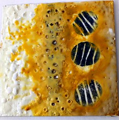 Encaustic: Butterscotch on Top