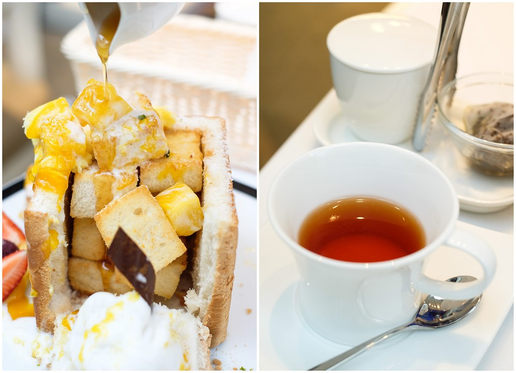 Dazzling Cafe Food: Shibuya-Style Honey Toast with Haagen Dazs Ice Cream and a Honey Jug