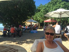 Sunday afternoon at the Sunset Bar, Dunk Island. Live music, good food and cold beer!