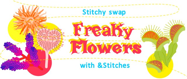 Freaky Flowers &Stitches swap