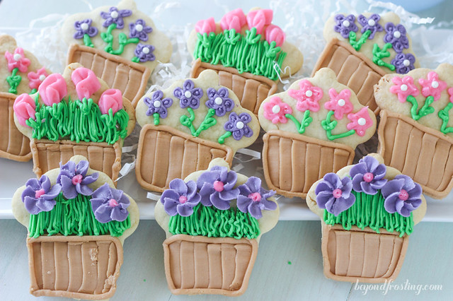 Mother's Day Flower Pot Cookies