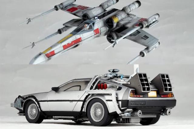 海洋堂宣布輪轉可動系列將推出「回到未來 時光車」與「星際大戰 X翼戰機」