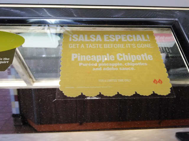 ¡Salsa Especial! Pineapple Chiptole at Taco Cabana