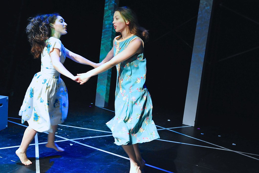 <p>Emily Gilson as Vallie and Abigail Ropp as Ellie<br /> Photo by Valentine Radev</p>