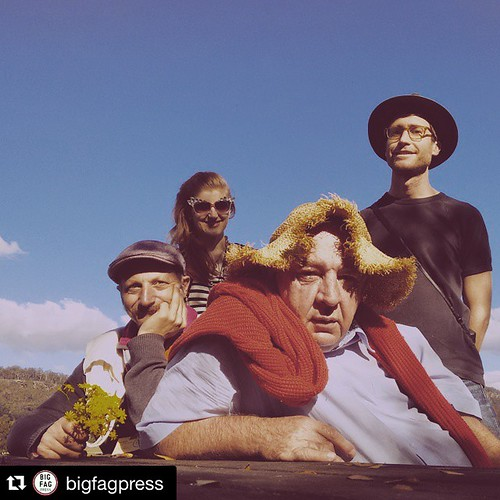 I'm in #BundanonTrust for the week, spending time with a few of the @bigfagpress crew, a printing collective I've been working with from 10+ years. We are toying with the idea of starting a banjo-driven country western band: John Demos and the Big Fags. M