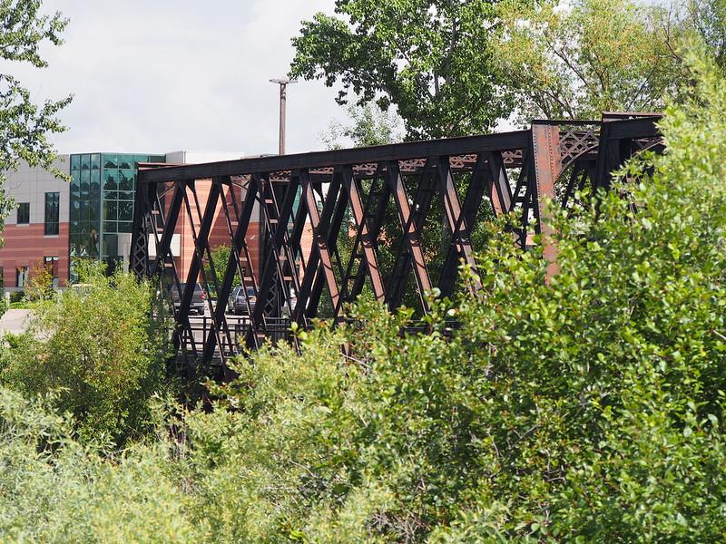 Centennial Trail Bridge: A fork of the trail I didn't take.