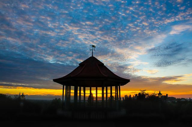 Horniman Bandstand at sunset