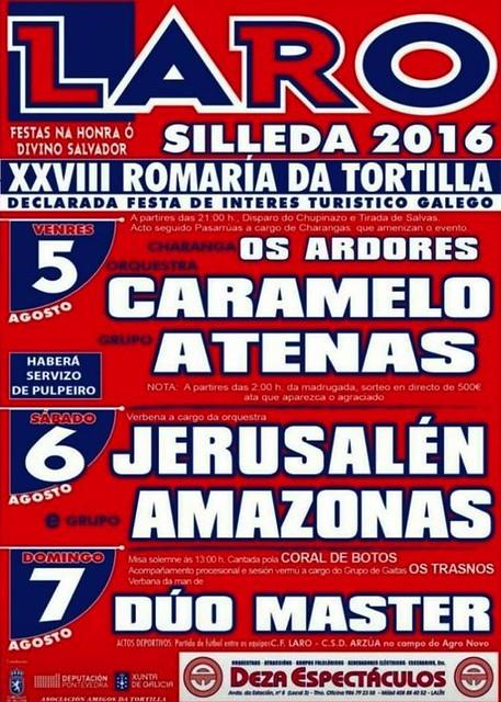 Silleda 2016 - Festas de Laro e XXVIII Romaría da Tortilla - cartel