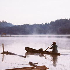 Fisherman in Tamblingan Lake