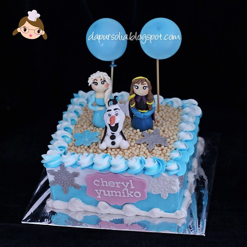 Frozen Birthday Cake for Cheryl