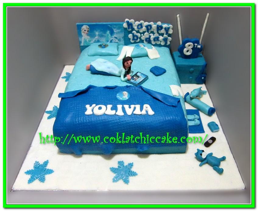 cake kamar tidur frozen yolivia jual kue ulang tahun