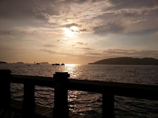 Sunset at WaterFront,Kota Kinabalu on 1 April 2015
