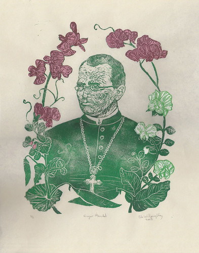 Gregor Mendel with his pea plants