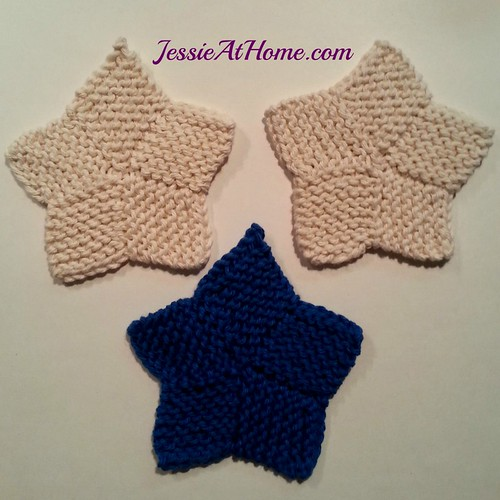 Star Coaster Free Knit Pattern Jessie at Home