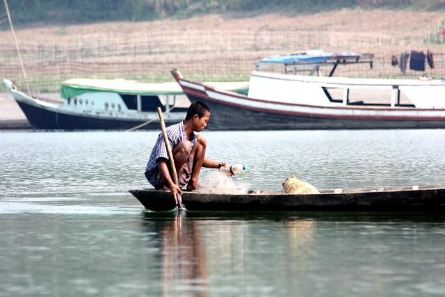 PICT0396/Burma/Chin State/ Lemro River Fisherman