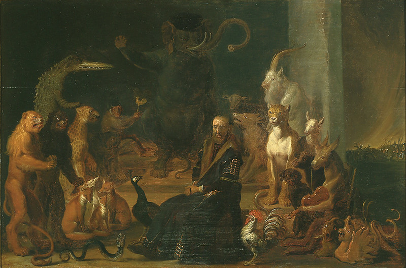 Cornelis Saftleven - Parody of the conviction of Johan van Barneveld