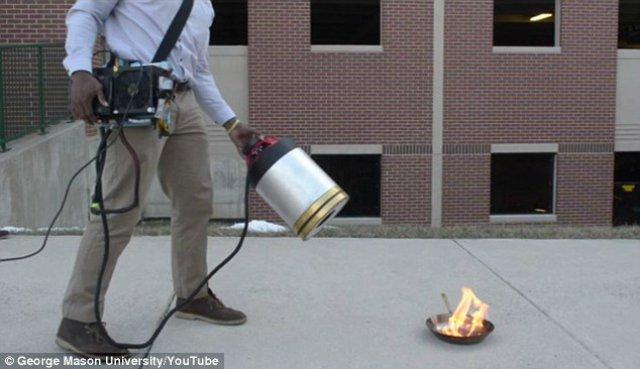 Novedoso extintor apaga fuego utilizando sonido