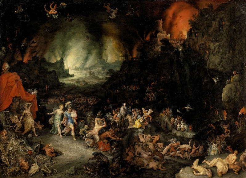 Jan Brueghel The Elder - Aeneas and Sibyl in the Underworld, 1600