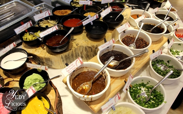 Make Your Own Sauce Four Seasons Buffet HotPot City SM MOA