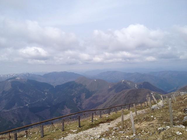 伊吹山 山頂 北尾根方面の眺望