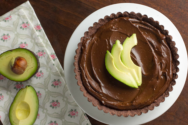 Avocado Chocolate Mousse Tart