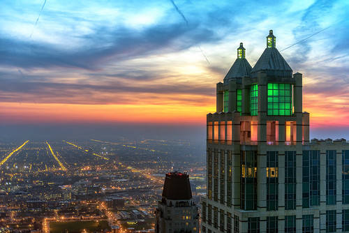 sunset chicago haze cityscape d800 jnhphoto