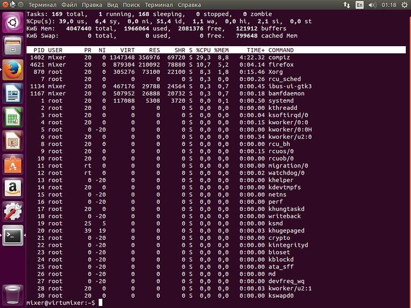 Ubuntu тормозит